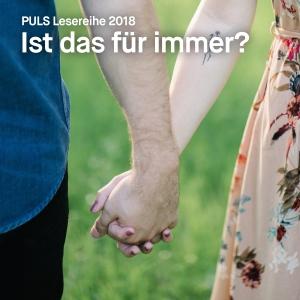 Plakat PULS Lesereihe 2018.